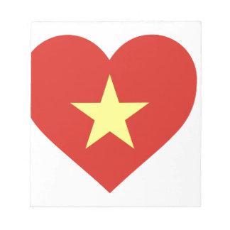 Flag of Vietnam - I Love Viet Nam - Cờ đỏ sao vàng Notepad