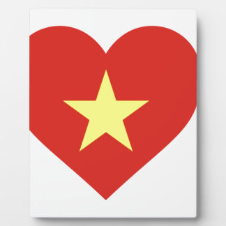 Flag of Vietnam - I Love Viet Nam - Cờ đỏ sao vàng Plaque