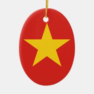 Flag of Vietnam - Quốc kỳ Việt Nam Ceramic Ornament