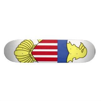 Flag of Virgin Islands Skateboard
