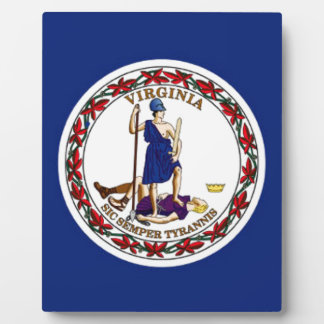 Flag Of Virginia Plaque