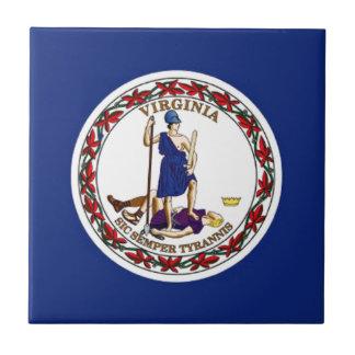 Flag Of Virginia Tile