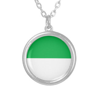 Flag of Vlieland Silver Plated Necklace