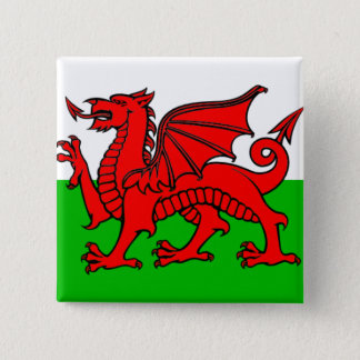 Flag of Wales 15 Cm Square Badge
