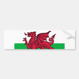 Flag of Wales Bumper Sticker