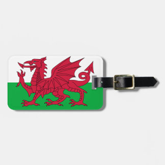 Flag of Wales Luggage Tag w/ leather strap