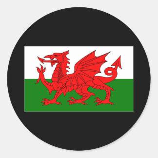 Flag of Wales Round Sticker
