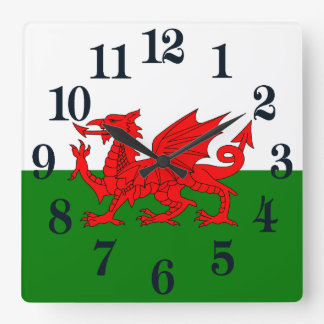Flag of Wales Square Wall Clock