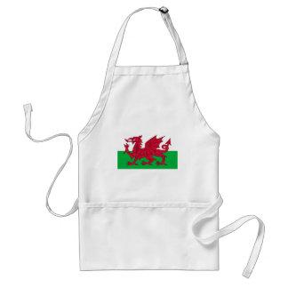 Flag of Wales - The Red Dragon - Baner Cymru Standard Apron