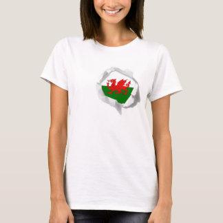 Flag of Wales True Colors Welsh Pride Torn T-Shirt