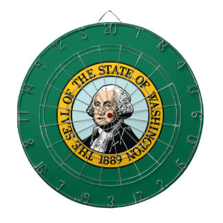 Flag Of Washington Dartboard