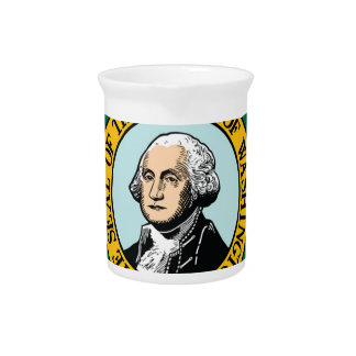 Flag Of Washington Pitcher