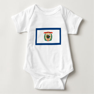 Flag Of West Virginia Baby Bodysuit
