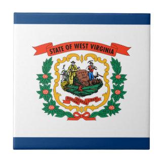 Flag Of West Virginia Ceramic Tile
