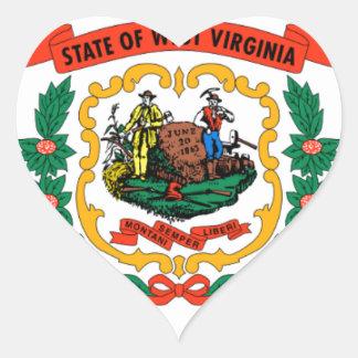 Flag Of West Virginia Heart Sticker