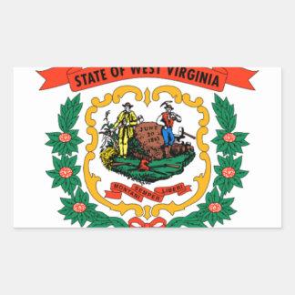 Flag Of West Virginia Rectangular Sticker