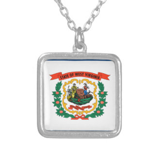 Flag Of West Virginia Silver Plated Necklace