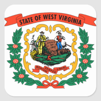 Flag Of West Virginia Square Sticker