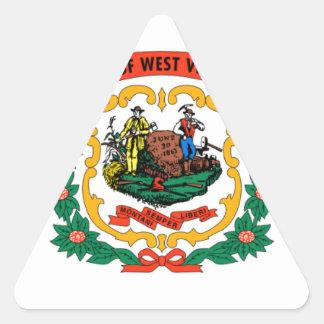 Flag Of West Virginia Triangle Sticker