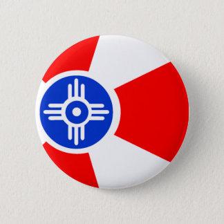 Flag of Wichita Kansas 6 Cm Round Badge