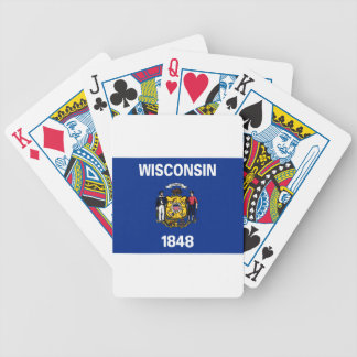 Flag Of Wisconsin Bicycle Playing Cards