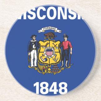 Flag Of Wisconsin Coaster