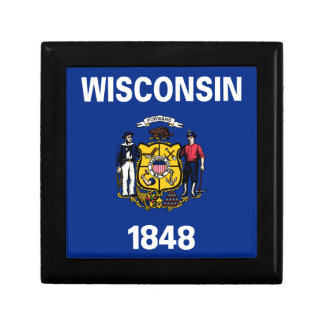 Flag Of Wisconsin Gift Box