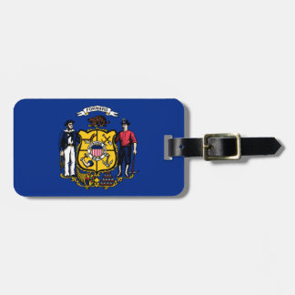 Flag Of Wisconsin Luggage Tag