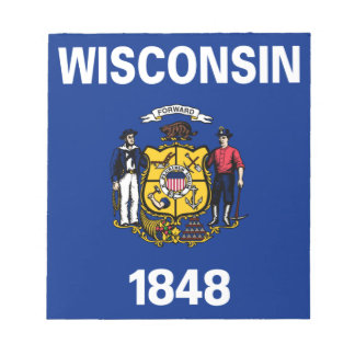 Flag Of Wisconsin Notepad