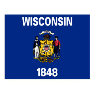 Flag of Wisconsin Postcard