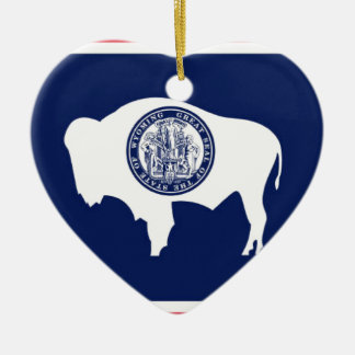 Flag Of Wyoming Ceramic Ornament