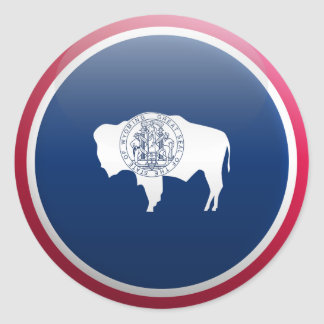 Flag of Wyoming Classic Round Sticker