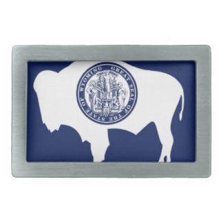 Flag Of Wyoming Rectangular Belt Buckle
