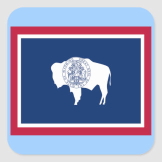 Flag of Wyoming Square Sticker