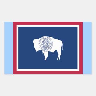 Flag of Wyoming Rectangular Sticker