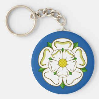 Flag of Yorkshire Basic Round Button Key Ring