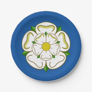 Flag of Yorkshire Paper Plate