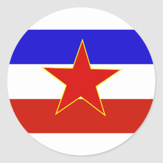 Flag of Yugoslavia Classic Round Sticker