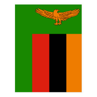 Flag of Zambia Postcard