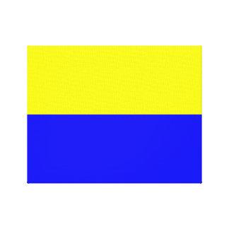 Flag of Zandvoort Canvas Print