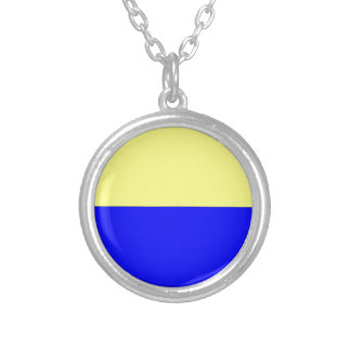 Flag of Zandvoort Silver Plated Necklace