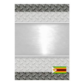 Flag of Zimbabwe 13 Cm X 18 Cm Invitation Card