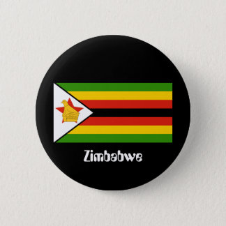 Flag of Zimbabwe 6 Cm Round Badge