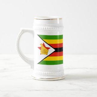 Flag of Zimbabwe Africa Beer Stein