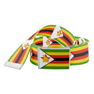Flag of Zimbabwe Africa Belt