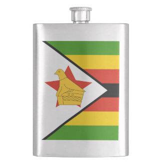 Flag of Zimbabwe Africa Hip Flask