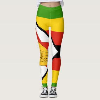 Flag of Zimbabwe Africa Leggings