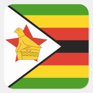 Flag of Zimbabwe Africa Square Sticker
