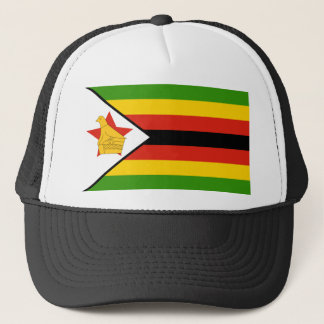 Flag of Zimbabwe Africa Trucker Hat