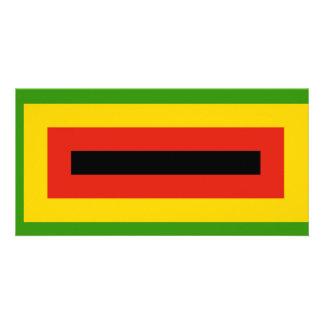 Flag of Zimbabwe African National Union Custom Photo Card